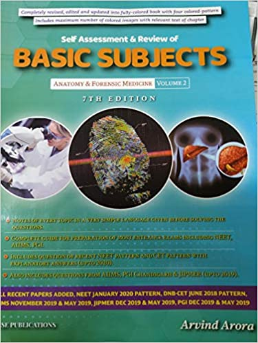SELF ASSESSMENT & REVIEW OF BASIC SUBJECTS ANATOMY & FORENSIC MEDICINE VOL 2(7TH EDITION)